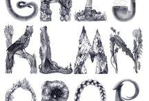 Naturaleza tipografia flyer