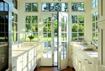 cocinas blancas y madera