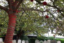 St Mary's Church Yarn bomb July 2015