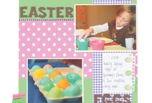Scrapbook Pages: Easter and Spring