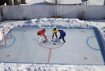 Back Yard Rinks / We all wanted one but only the lucky ones got to step out their back door onto their very own ice rink / by Perani's Hockey World
