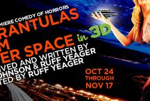 She-Rantulas from Outer Space in 3D- Diversionary Theatre / Just in time for Halloween, Phil Johnson and Ruff Yeager bring us a hilarious send-up of the femme fatales and B-movie horror stories of the 1950s. When a horror-horde of monster-mutants invades Small Town U.S.A., one All-American Mother must face the truth about her little Suzie and destroy her evil Web of Terror. There will be carnage! There will be destruction! There will be men in women's clothing!  http://diversionary.org