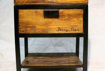 Bedside Cabinet / Bedside cabinet - Ashwood/Oak & Steel Szafka nocna - Jesion/Dąb w stalowej konstrukcji. Dimensions/ Wymiary Width/ Szerokość: 50 cm Deph/ Głębokość: 40 cm Height/ Wysokość: 53 cm