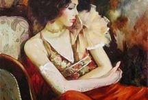 dipinto di donna