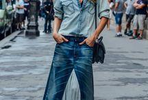 jeans looks inspiration / как носить джинсу