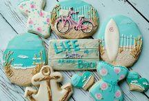 Печенье море и пляж