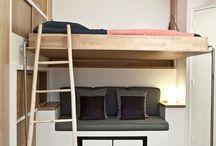 Studio   Appartement / Idées d'aménagements
