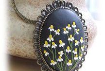 kamilky kvety keramika