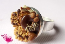 Fimo Rings / rings, fimo, sweets, cookies, berry
