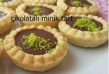Çikolatalı minik tart