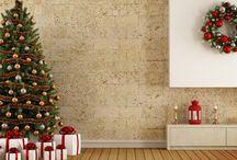 Decoración navideña tradicional / Los colores verde, rojo y dorado son los predominantes en Navidad. ¡Decoremos con ellos!