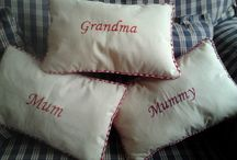 Personalised cushions for someone special / These hand made cushions make an ideal present for someone special