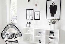 BLACK AND WHITE INTERIORS / Black and white interior ideas