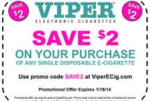 Coupons & Promotional Offers From ViperECig.com / Check back often to learn more about our current promotional offers and to find promo codes that may be used for online orders from www.ViperECig.com / by Viper Electronic Cigarettes