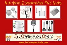 Cooking With Kids / This is a must have list of kitchen essentials when kids are cooking in the kitchen to keep them safe!