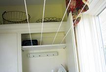 Laundry in a cupboard