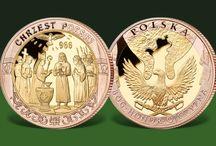 ZŁOTE MEDALE / Złote medale, okolicznościowe emisje polskie i zagraniczne