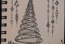 Zentangle kerst