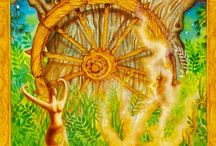 10 - Wheel of Fortune tarot card / Ruled by Jupiter, card for luck, expansion, fate (to a certain extent) and rapid changes :)