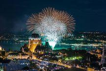 La Fiesta du fleuve Saint-Laurent / Découvrez les meilleurs points de vue pour observer les feux d'artifice des Grands Feux Loto-Québec qui seront propulsés du cœur du fleuve Saint-Laurent entre Québec et Lévis !