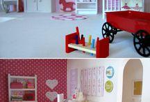 Домики, игрушки
