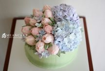 Buttercream Flower Cake / buttercream flower cake, cupcake , flower , edible art, decorated cake , wedding ,rose cake , rose , peony