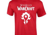 amazon:World of Warcraft Horde Red Symbols Cotton Tee Shirt for Men