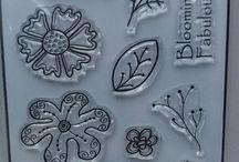 DOODLED FLOWERS A6 stamp set - inspiration