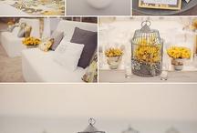 yellow Table wedding