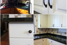 Before & After - Kitchen Cabinet Repainting / Repainting and refinishing cabinetry by Warline Painting Ltd.