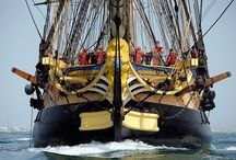 Hopping the Pond / A collection of the international press covering the Hermione's April 18th, 2015 grand departure from Rochefort, France.