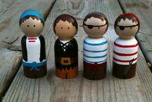 Wooden peg doll ideas