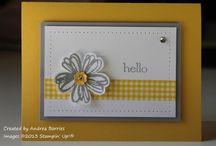 "Flower Shop / Are there a cuter floral images than Stampin' Up!'s ""Flower Shop"" stamp set?!  I'm not sure which I like more... the cuteness in the flowers or the fact that they have a coordinating PUNCH!!!"