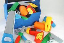 brinquedos em feltro