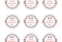 Valentine's Day Stickers / Cute Valentine's Day Stickers