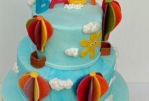Christenings / Hot Air Balloon Christening cake