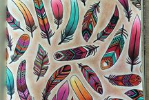 Feathers painting