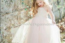 Blush Pink Flower Girl Dresses and Weddings