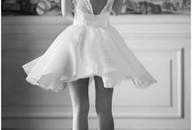 Short wed dress