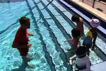Kids learn about Water Safety / Kids learn water safety at the international hall of fame pool