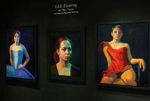 Eddi Fleming / Eddi Fleming installation at Meyerovich Gallery, SF www.meyerovich.com
