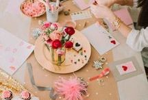 Galentines Day / Ideas for Upcoming Galentine Crafty Day & Potluck