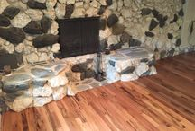 """Unique fireplace and flooring / Indus Tigerwood 3/4"""" X 3"""""""