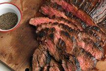 marinated flank skirt steak