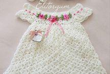 vestidos de crochê infantil