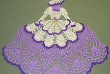crochet Lady  Doily