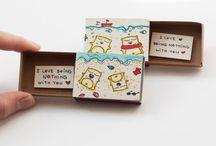 z krabiček od sirek
