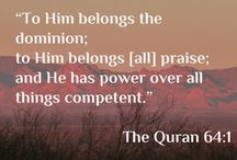 Quranic Quotes / Quotes and Verses from The Holy Quran in English
