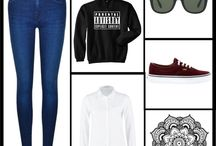 polyvore collages