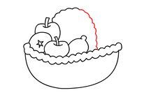 HOW TO DRAW A FRUIT PLATE